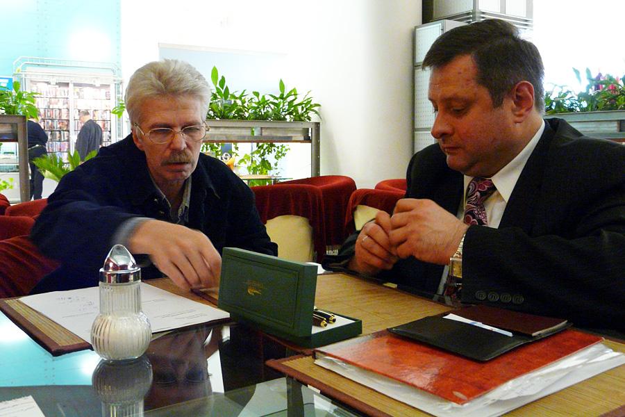 Юрий Черкасов, Сергей Савин, встречи Внешторгклуба в Новинском Пассаже 2005-2010